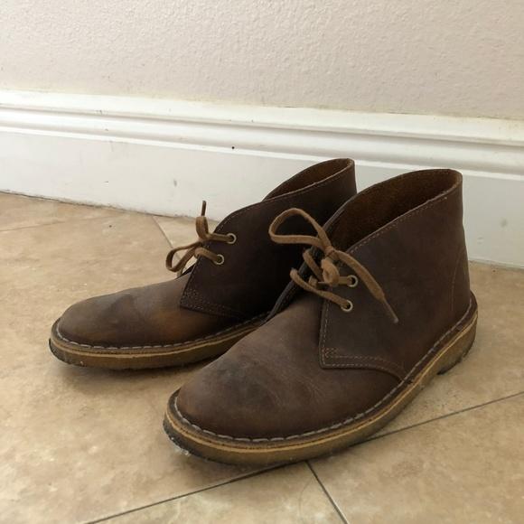 d8706795be6c3 Clarks Shoes - Women Clarks Dark Brown Desert Boot   Size 6